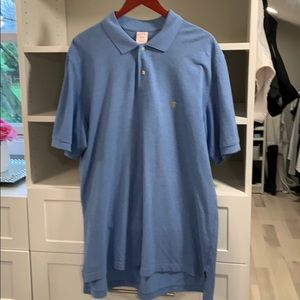 Brooks Bothers Blue Performance Polo